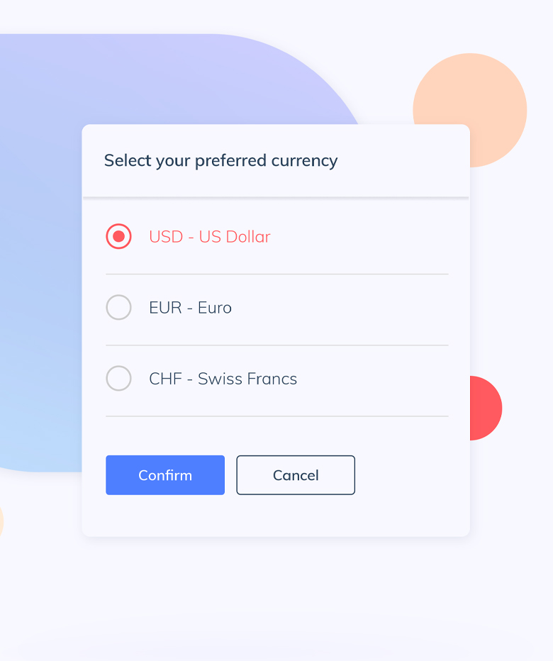 RaiseNow Payment works with many currencies and languages