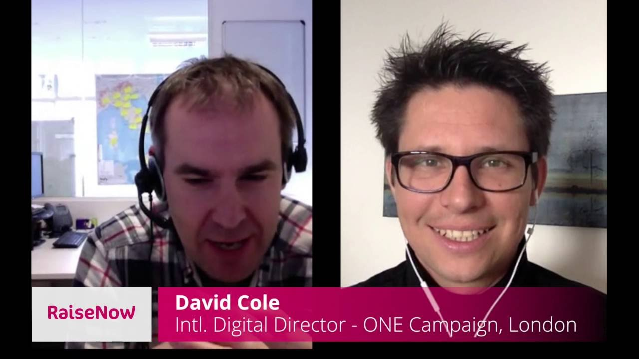 David Cole discusses the fight against global poverty with RaiseNow